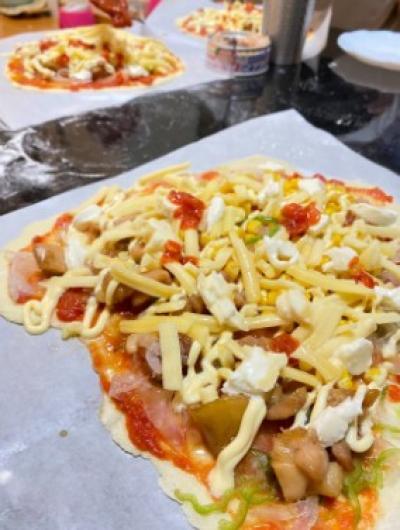 初めてのピザ作り♪